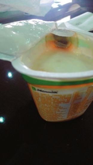 发霉长毛的蒙牛酸奶