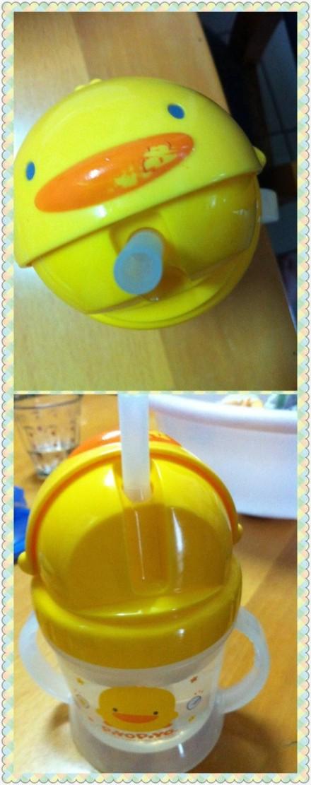 黄色小鸭幼儿水杯掉色