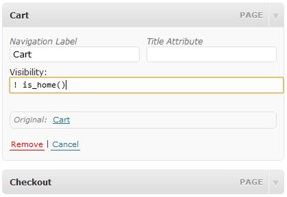 条件控制菜单项的显示与否