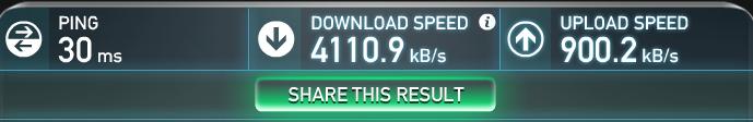 线缆直连电脑重新测试的速度