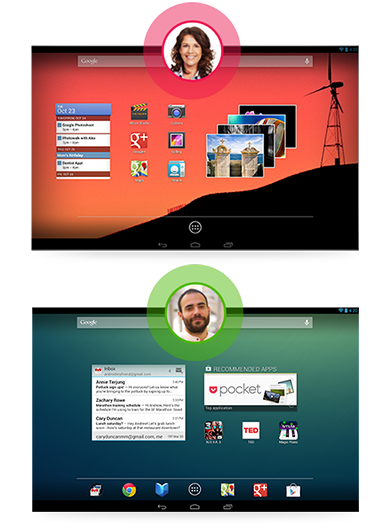 Jelly Bean 4.2 上的多用户帐户功能