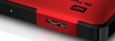 西部数据移动硬盘盒上的接口