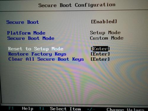 T470s BIOS UEFI Secure Boot 配置