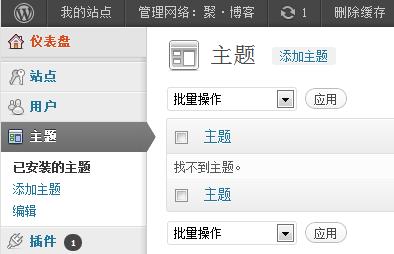 升级 WordPress 3.4 后主题列表里所有主题都消失了
