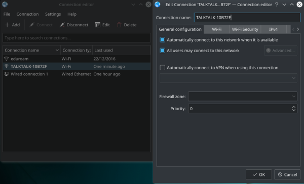 openSUSE 全局无线网络设置