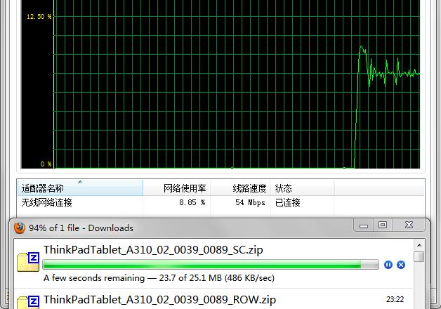 中国电信 4M ADSL 宽带下载速度能飙到 500+kB/s