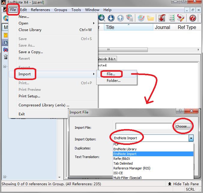 将从万方导出的 TXT 文本文件中的文献信息导入 EndNote 的步骤及注意事项