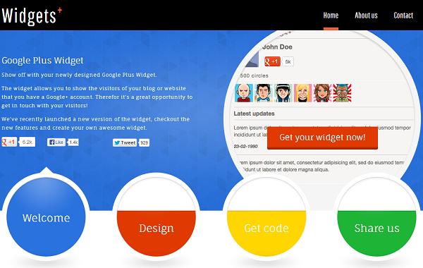 Google+ Widget 网页截图