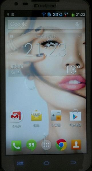 新版 Android 4.4 在酷派 7296 上的首页