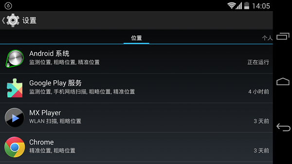 Android 4.4.2 中的应用权限管理